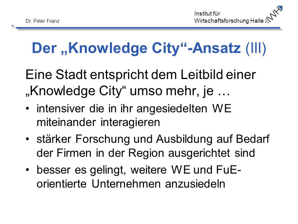 """Der """"Knowledge City -Ansatz (III)"""