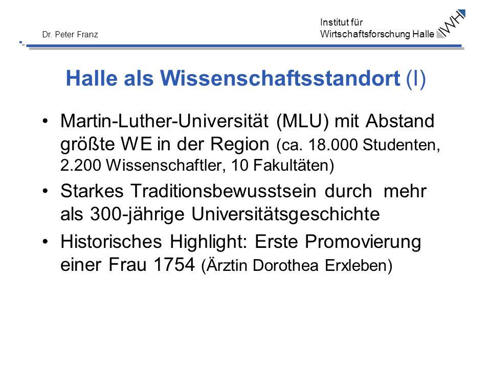 Halle als Wissenschaftsstandort (I)