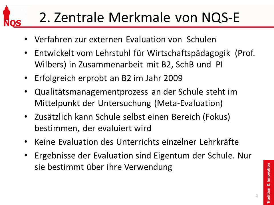 2. Zentrale Merkmale von NQS-E