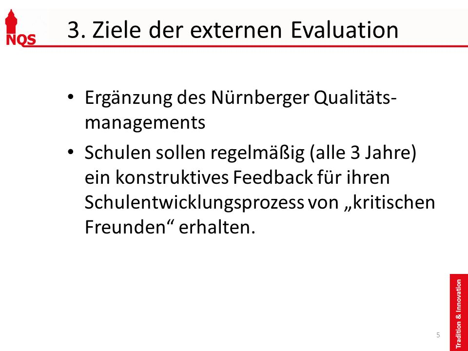 3. Ziele der externen Evaluation