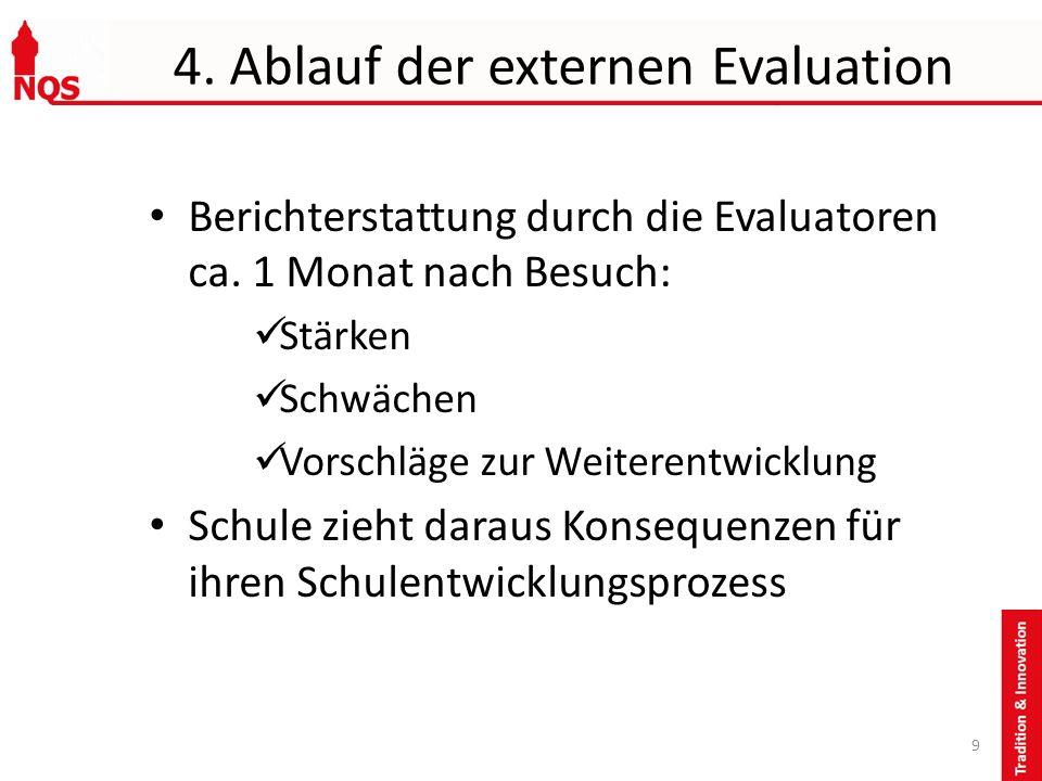 4. Ablauf der externen Evaluation