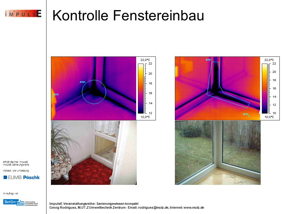 Kontrolle Fenstereinbau