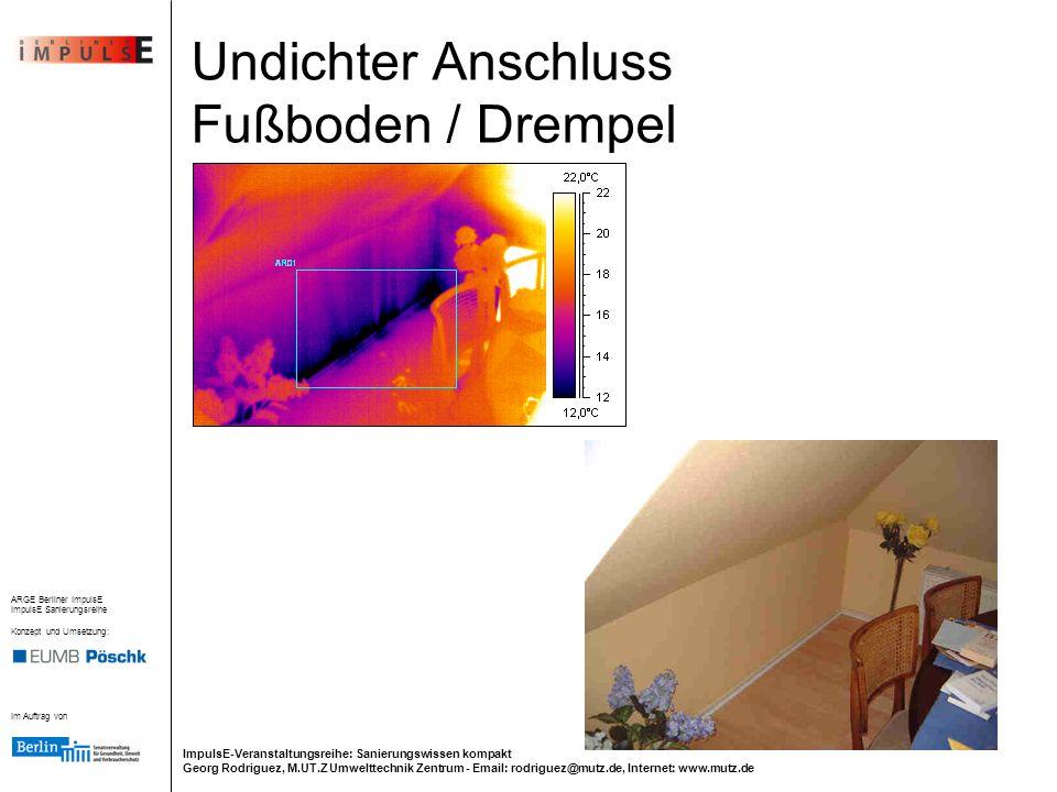 Undichter Anschluss Fußboden / Drempel