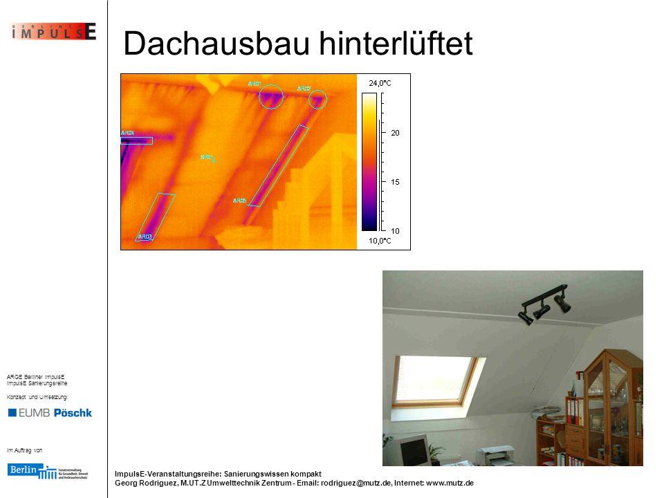 Dachausbau hinterlüftet