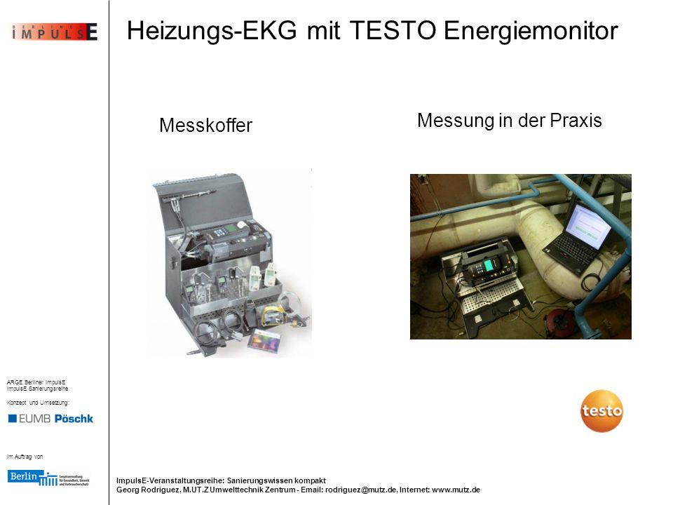 Heizungs-EKG mit TESTO Energiemonitor