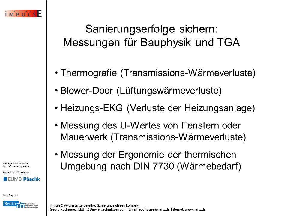 Sanierungserfolge sichern: Messungen für Bauphysik und TGA