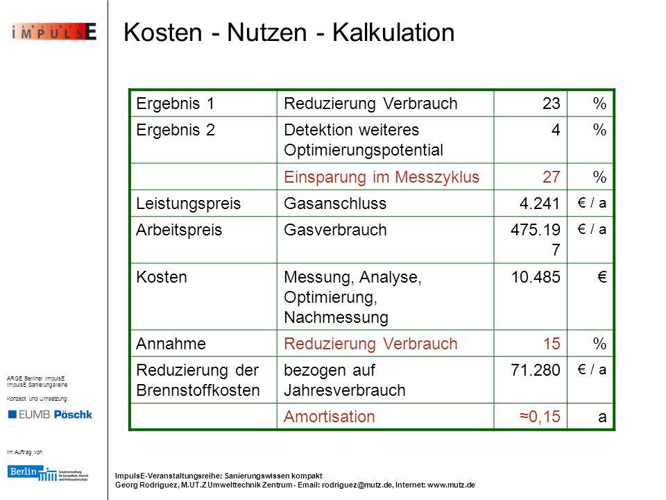 Kosten - Nutzen - Kalkulation