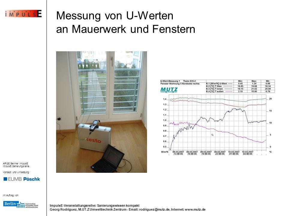 Messung von U-Werten an Mauerwerk und Fenstern