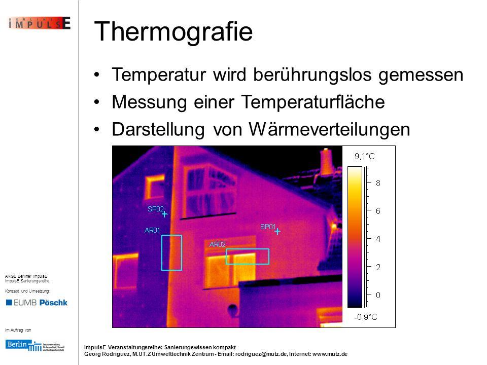 Thermografie Temperatur wird berührungslos gemessen