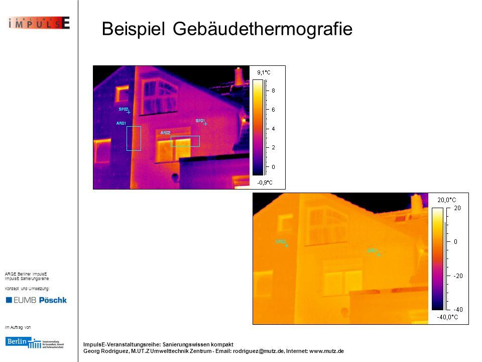 Beispiel Gebäudethermografie