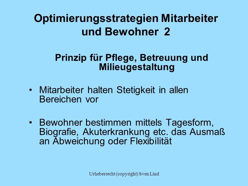 Optimierungsstrategien Mitarbeiter und Bewohner 2