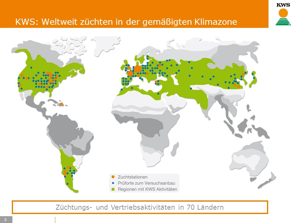 KWS: Weltweit züchten in der gemäßigten Klimazone