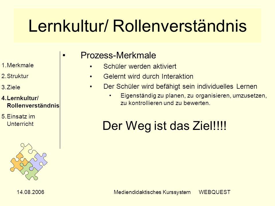 Lernkultur/ Rollenverständnis