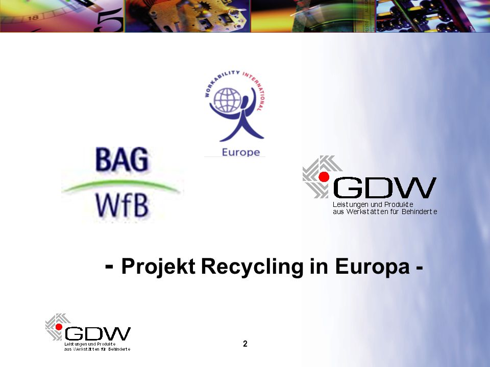- Projekt Recycling in Europa -