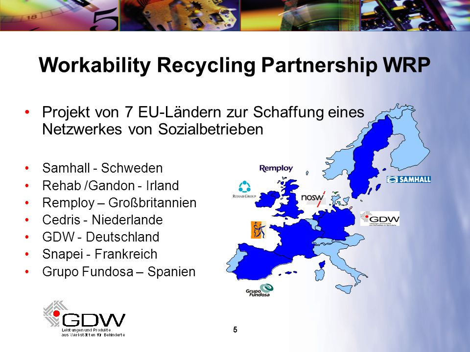 Workability Recycling Partnership WRP