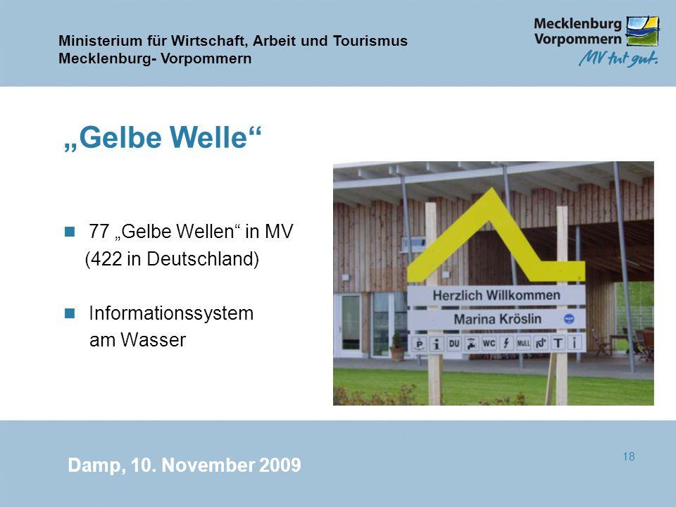 """Gelbe Welle 77 ""Gelbe Wellen in MV (422 in Deutschland)"
