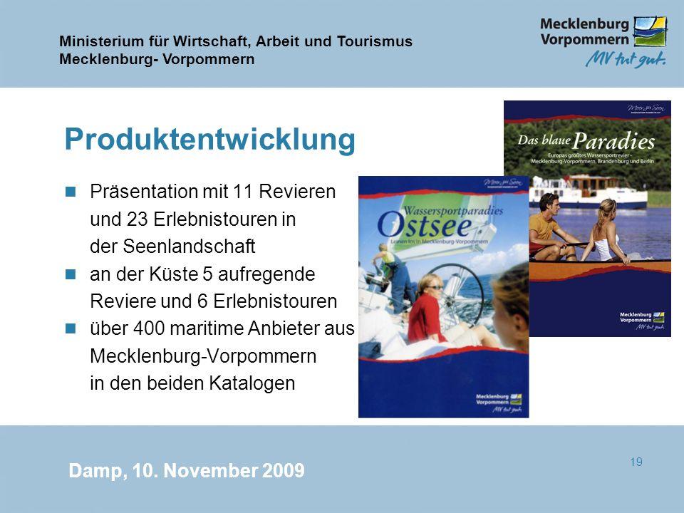 Produktentwicklung Präsentation mit 11 Revieren