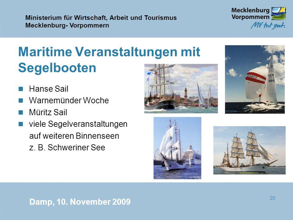 Maritime Veranstaltungen mit Segelbooten
