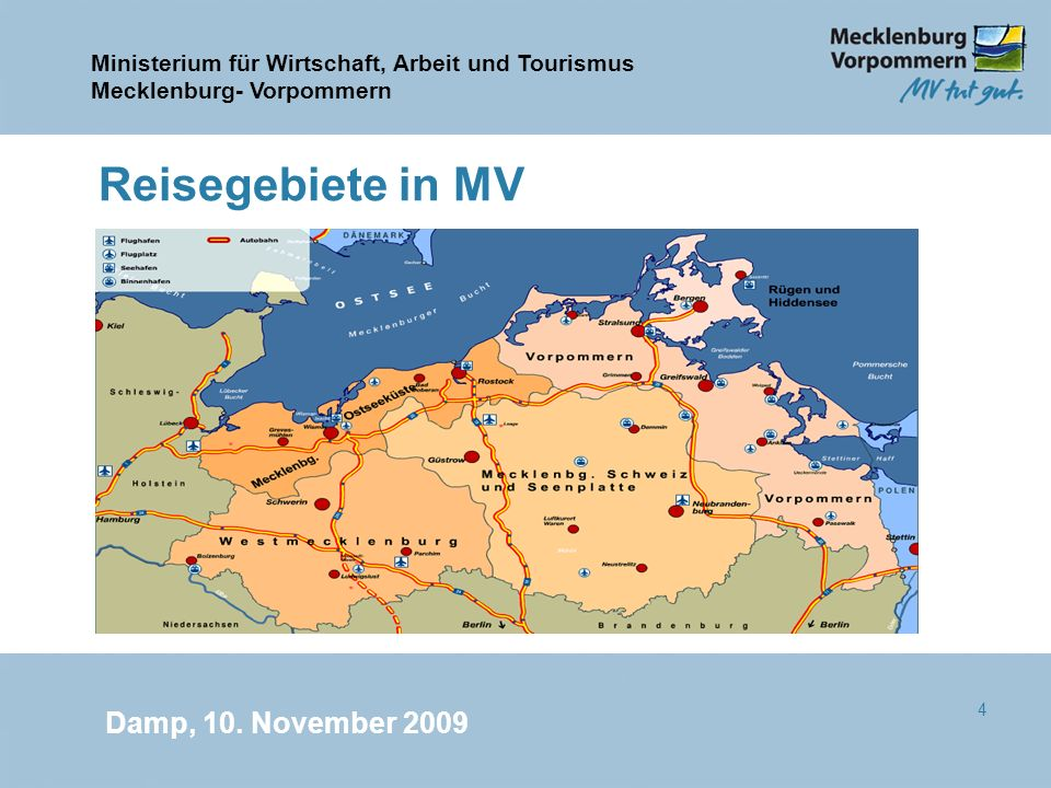 Reisegebiete in MV Damp, 10. November 2009