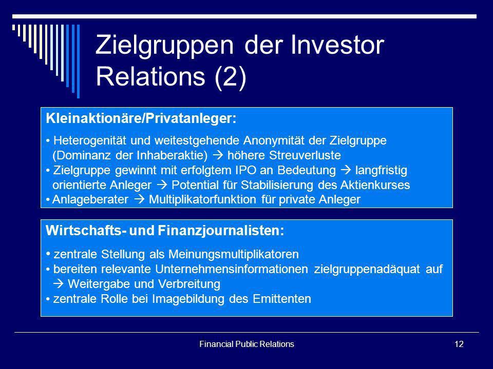 Zielgruppen der Investor Relations (2)