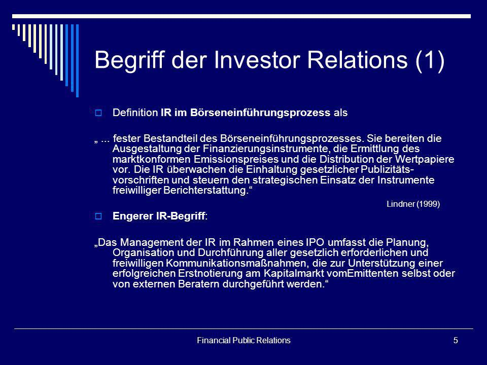 Begriff der Investor Relations (1)