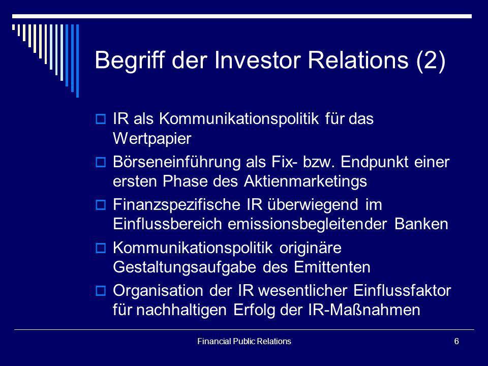 Begriff der Investor Relations (2)