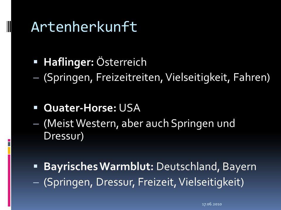 Artenherkunft Haflinger: Österreich