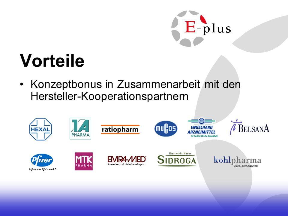 Vorteile Konzeptbonus in Zusammenarbeit mit den Hersteller-Kooperationspartnern