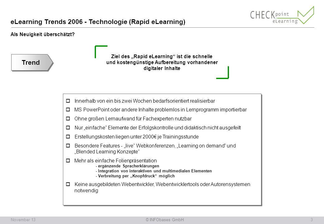 eLearning Trends 2006 - Technologie (Rapid eLearning) Als Neuigkeit überschätzt