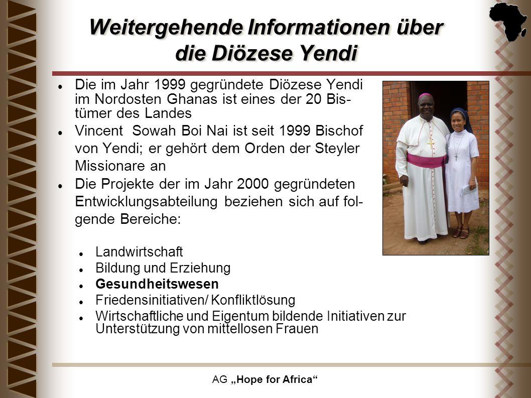 Weitergehende Informationen über die Diözese Yendi