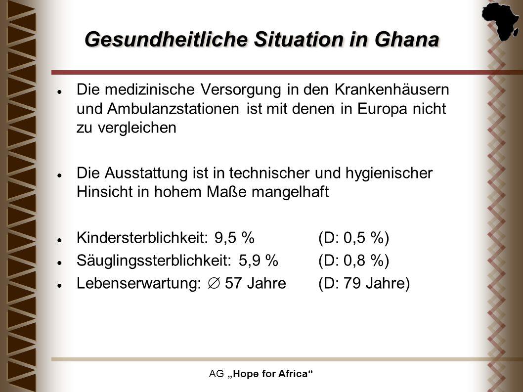Gesundheitliche Situation in Ghana