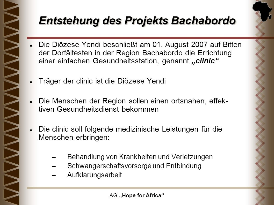 Entstehung des Projekts Bachabordo