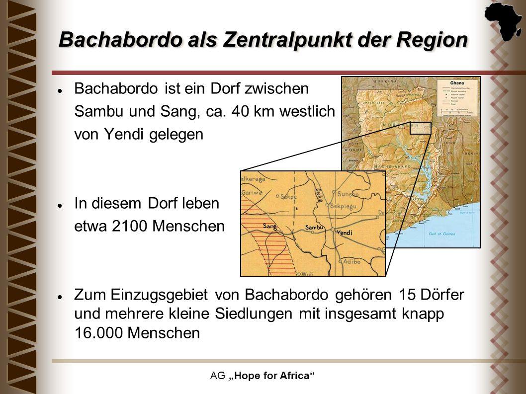 Bachabordo als Zentralpunkt der Region