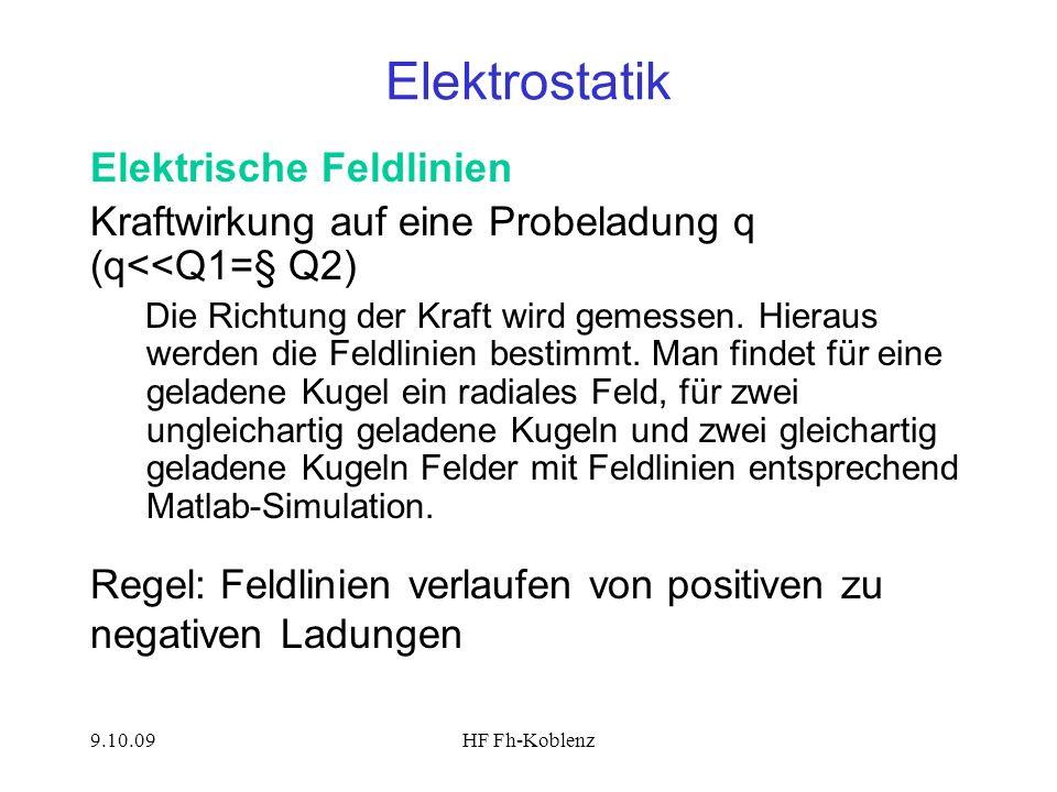 Elektrostatik Elektrische Feldlinien