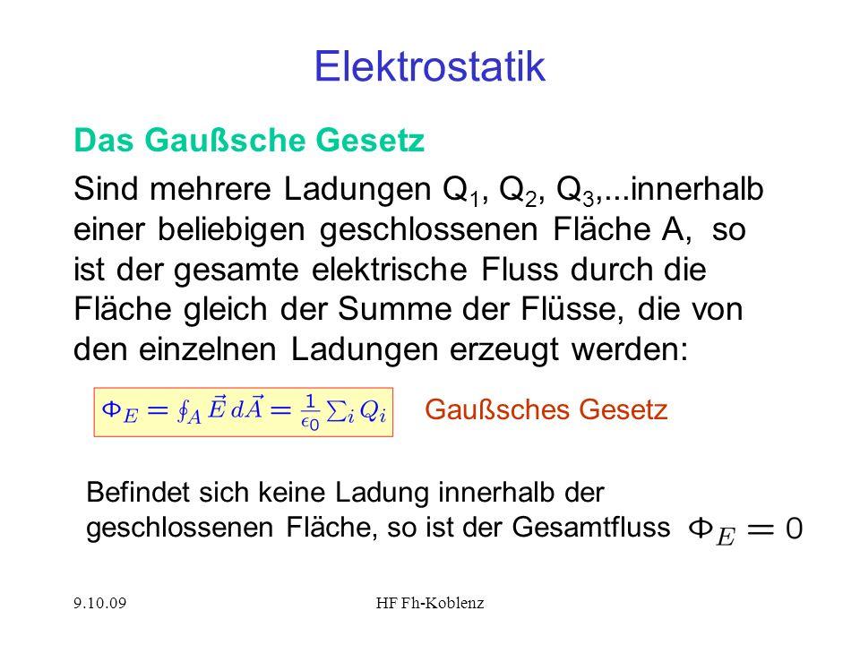 Elektrostatik Das Gaußsche Gesetz