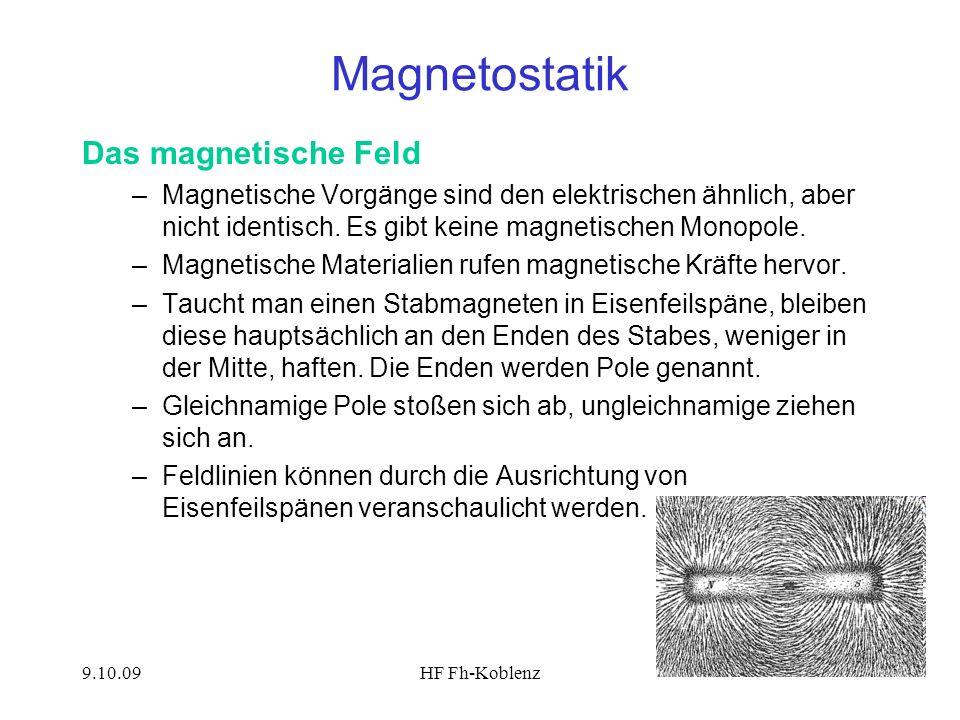 Magnetostatik Das magnetische Feld