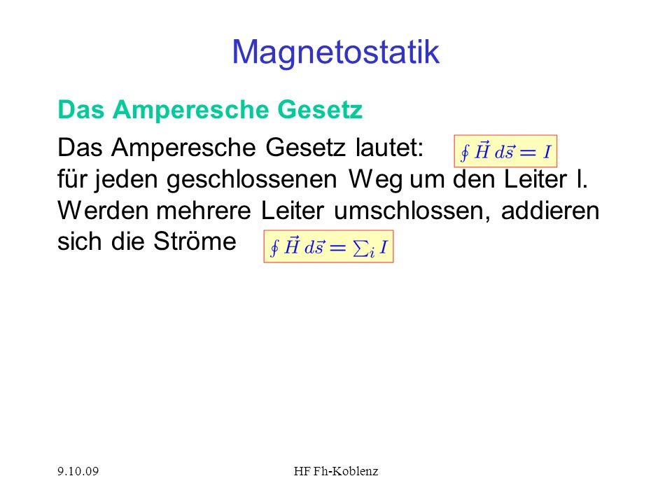 Magnetostatik Das Amperesche Gesetz
