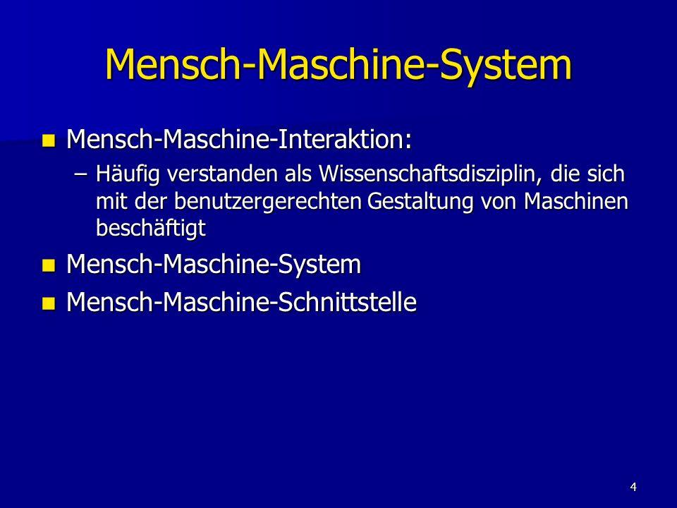 Mensch-Maschine-System
