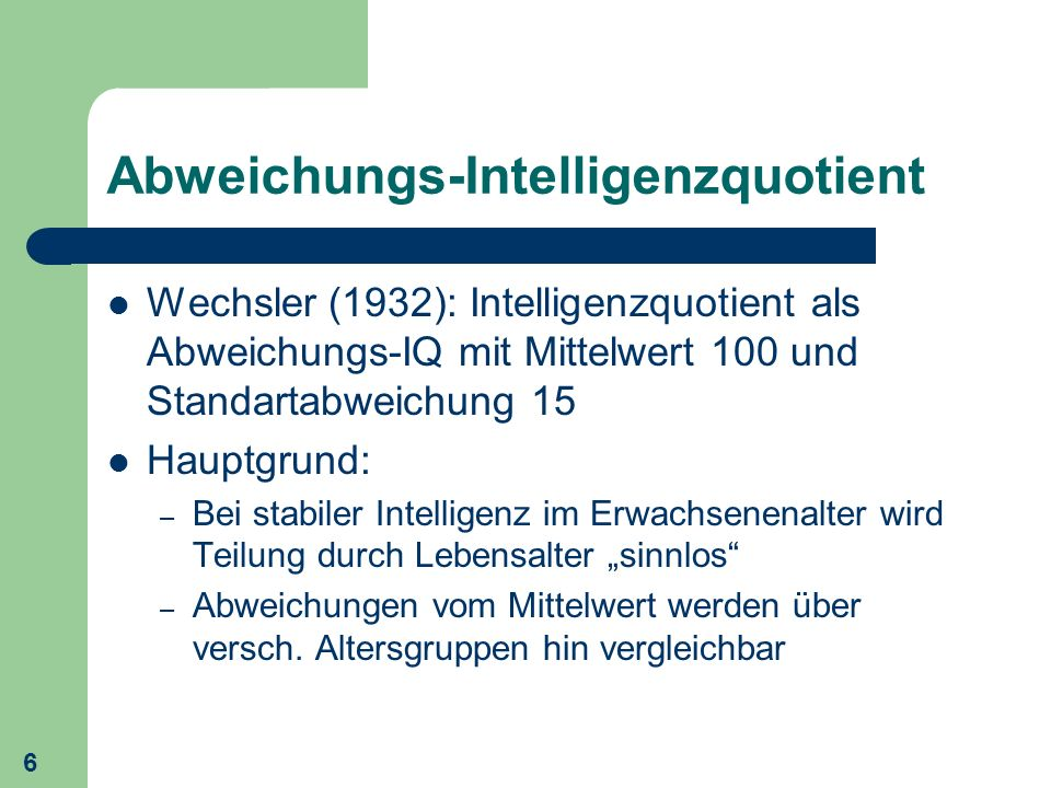 Abweichungs-Intelligenzquotient