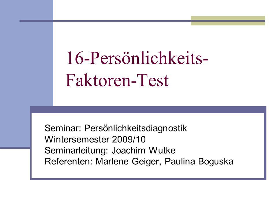 16-Persönlichkeits-Faktoren-Test