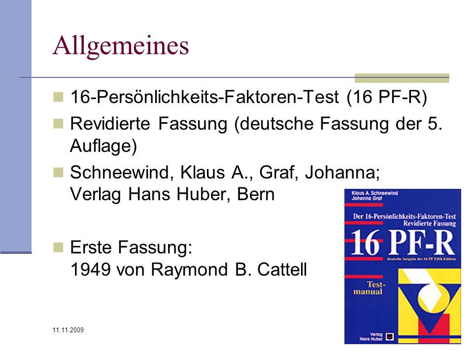 Allgemeines 16-Persönlichkeits-Faktoren-Test (16 PF-R)