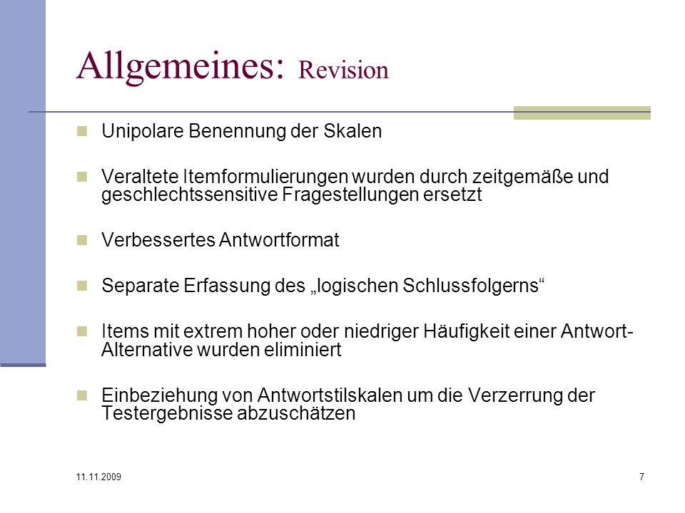 Allgemeines: Revision