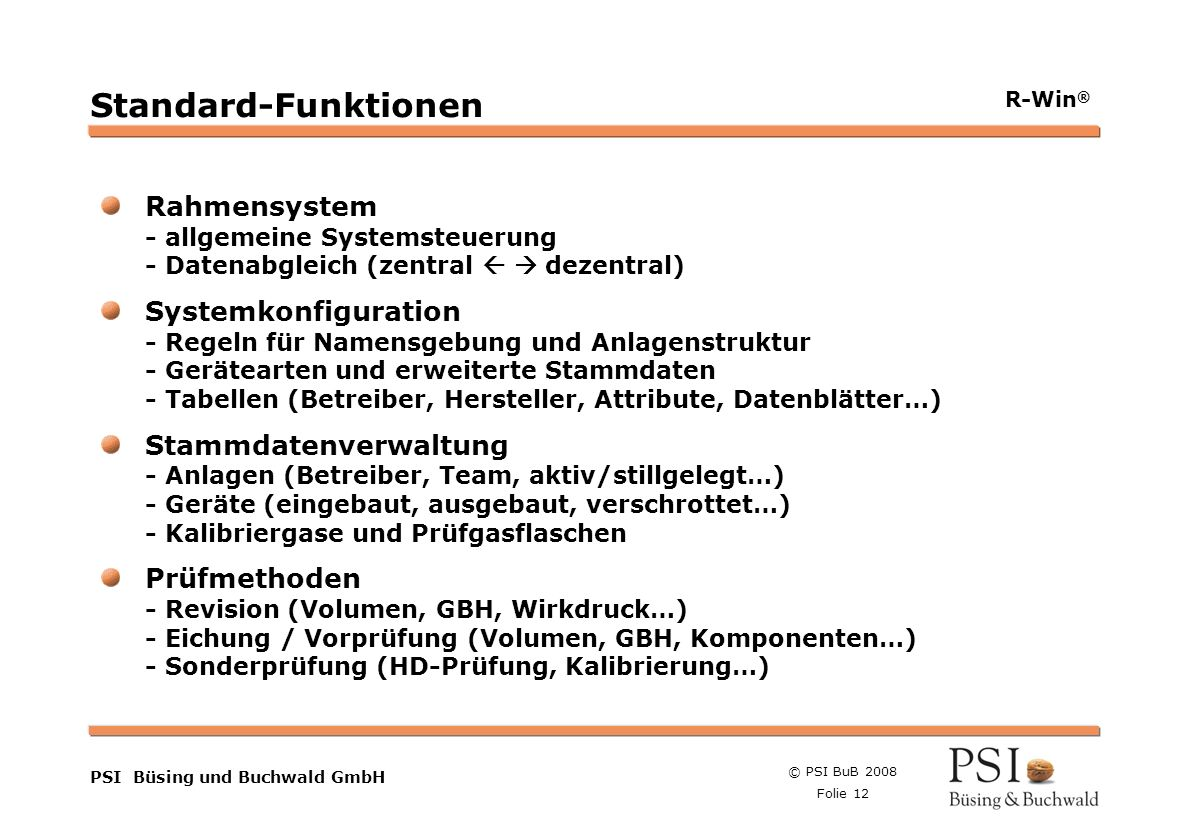 Standard-FunktionenRahmensystem - allgemeine Systemsteuerung - Datenabgleich (zentral   dezentral)