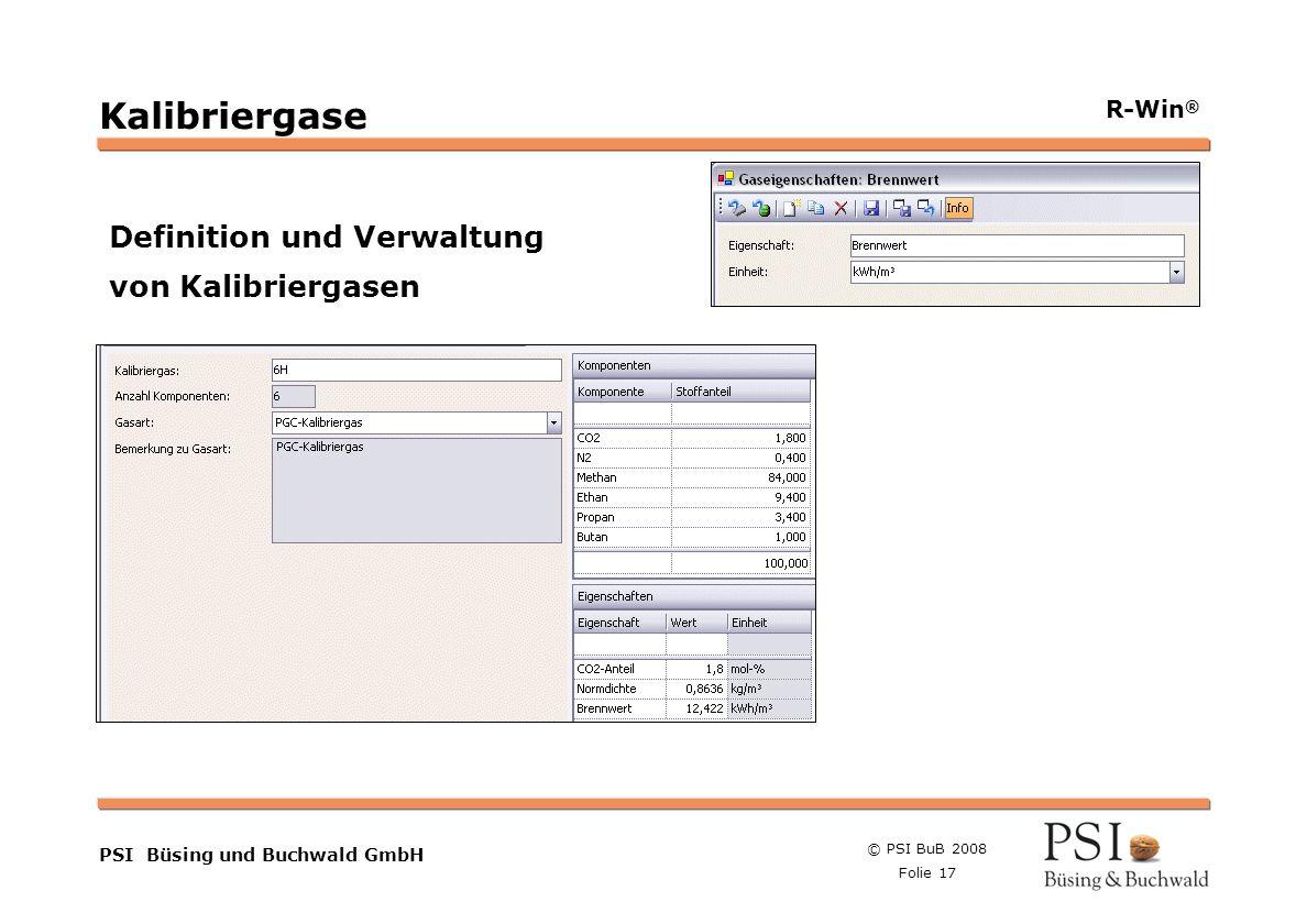 Kalibriergase Definition und Verwaltung von Kalibriergasen