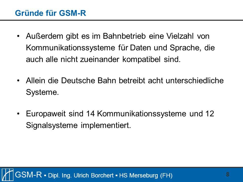 Gründe für GSM-R