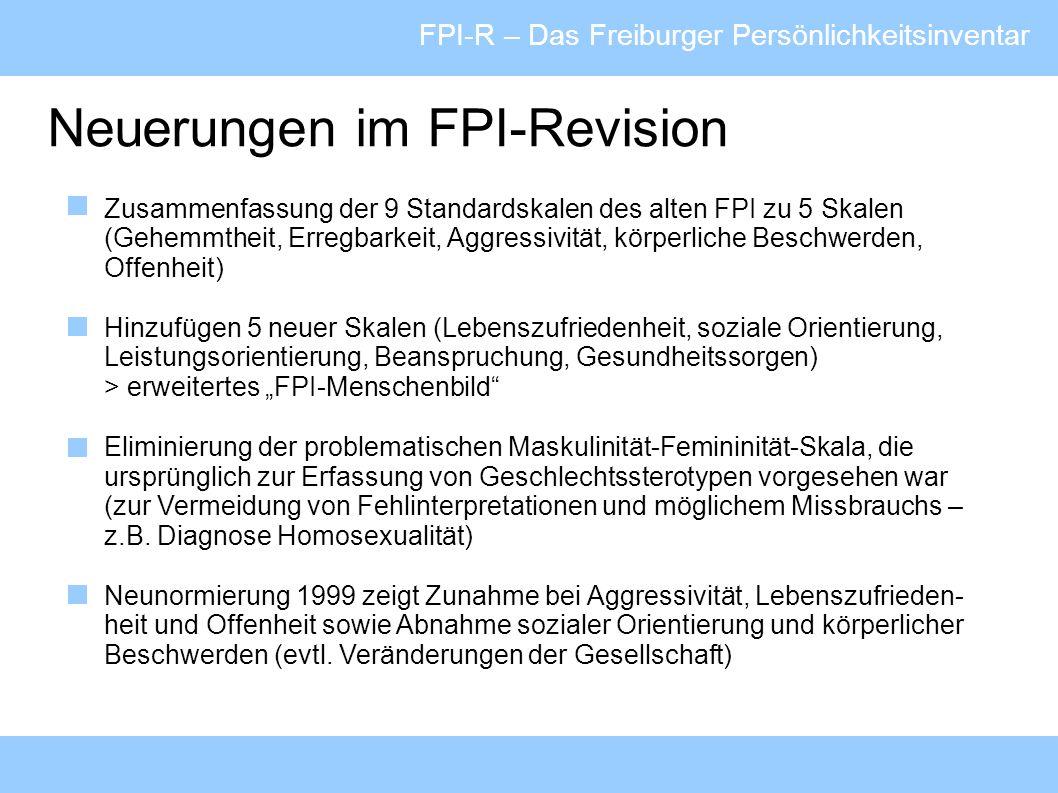 Neuerungen im FPI-Revision
