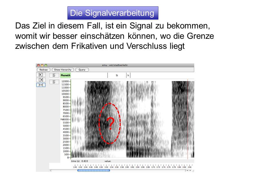 Die Signalverarbeitung