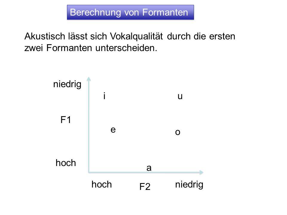Berechnung von Formanten