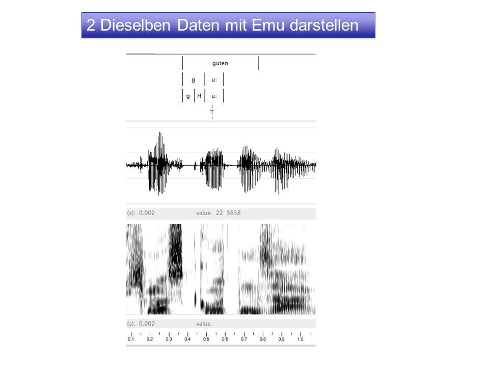 2 Dieselben Daten mit Emu darstellen