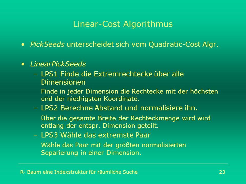 Linear-Cost Algorithmus